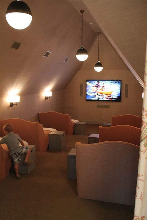 turn an attic room into a cool bedroom for a pre teen girl movie theatre in the attic love this idea baby ideas