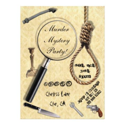 Murder Mystery Invitations Announcements Zazzle Mystery Invitations Templates