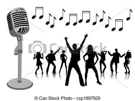 imagenes retro karaoke karaoke party stock illustration search vector clipart
