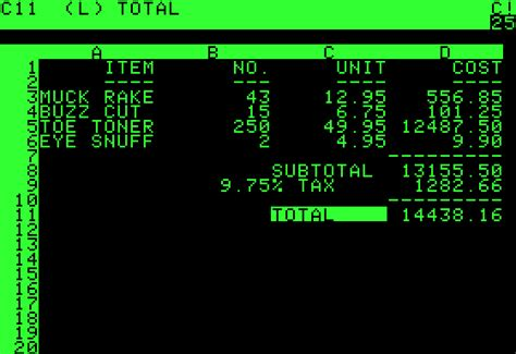 Apple Spreadsheet Software by Visicalc