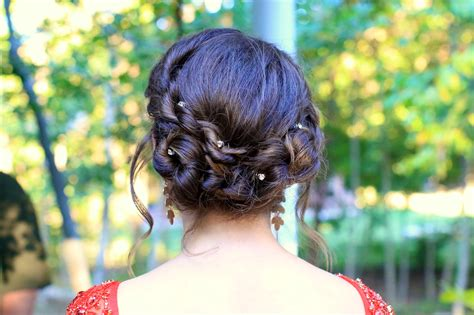 Rope Twist Updo Homecoming Hairstyles Cute Girls | rope twist updo homecoming hairstyles cute girls