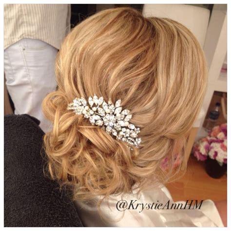 Wedding Hair Updos With Comb by Beachy Bridal Updo Hair Www Krystieann Wedding Hair