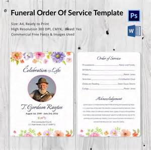 order of service template word 5 funeral order of services word psd format