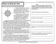 where on earth are you? | 4th grade reading comprehension