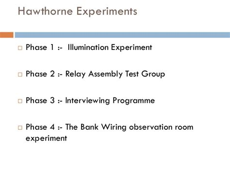 bank wiring observation room experiment development of management thought prof smita verma