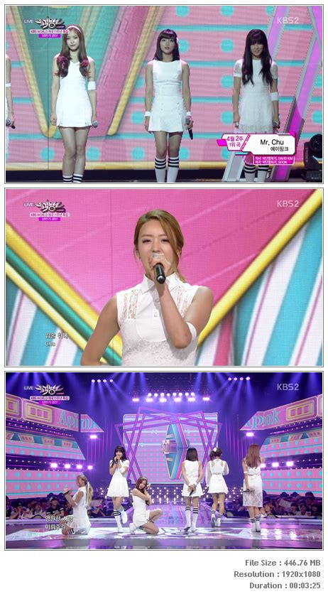 a pink mr chu live inkigayo perf apink mr chu 140627 kbs bank hd hallyu