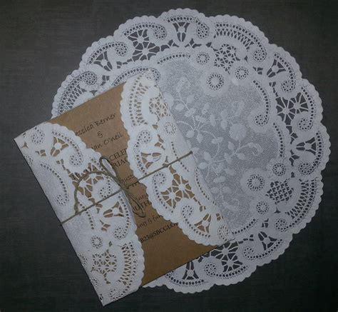 How To Make Paper Doilies - 50 white circular 8 or 10 inch lace paper doilies