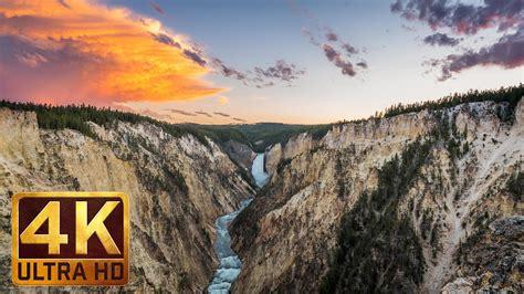 4k wallpaper yellowstone waterfalls of yellowstone in 4k proartinc