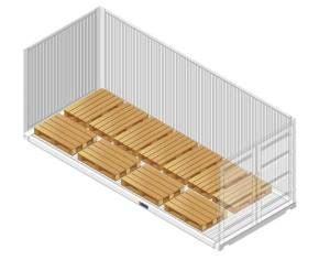misure interne container 40 piedi platzierung der paletten im container c hartwig gdynia s