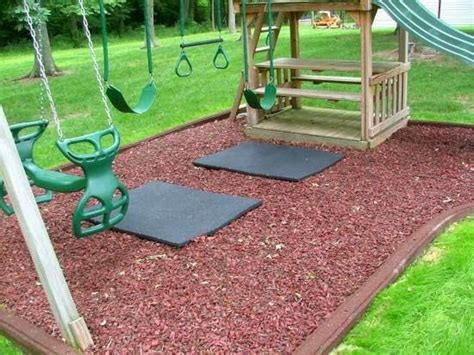 mat for under swing set best surfacing fun ideas for kids playground design