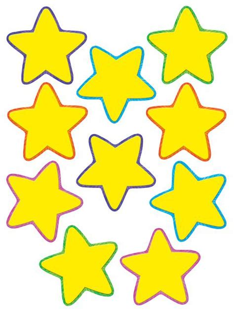 free printable yellow stars yellow stars accents tcr4591