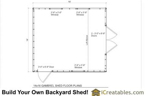 gambrel floor plans 14x16 gambrel shed plans 14x16 barn shed plans