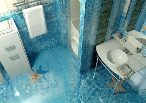 bathroom self 3d flooring ideas and 3d bathroom floor murals designs
