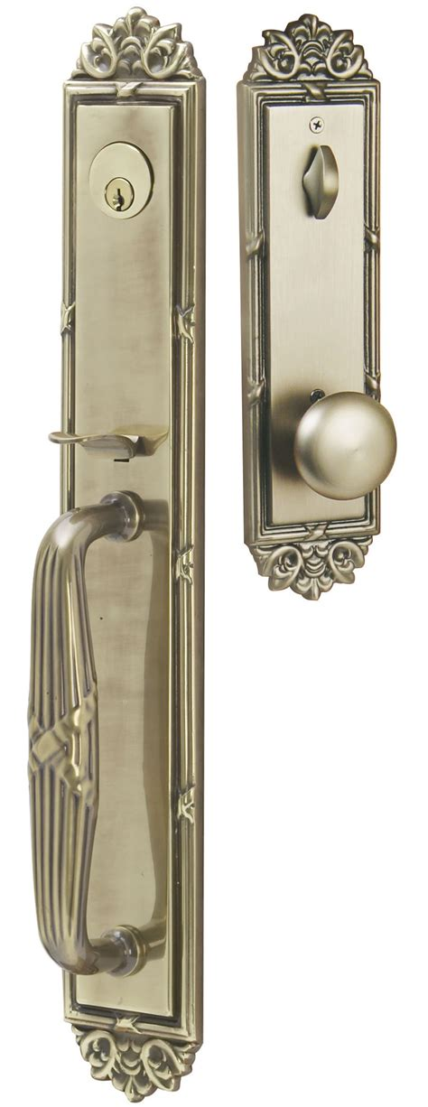 emtek door hardware emtek imperial entrance handleset