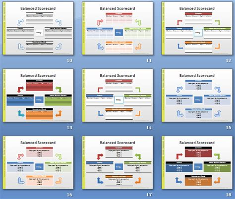 card powerpoint template balanced scorecard template cyberuse