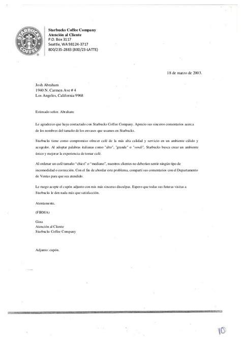 carta disculpa al cliente ejemplo traductolog 237 a texto 2 carta