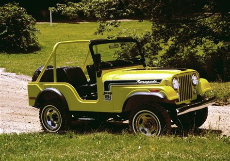 old yellow jeep jeep 174 heritage 1972 1983 jeep cj 5 renegade the jeep blog