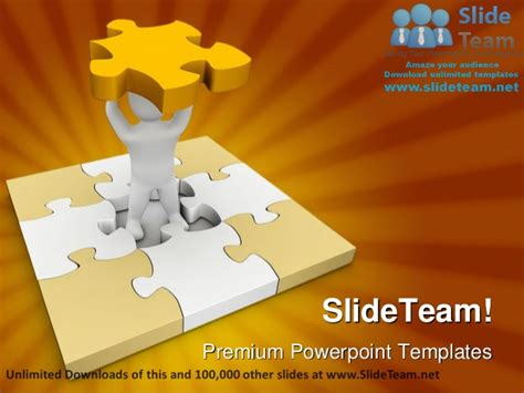missing puzzle powerpoint template backgrounds missing piece of puzzle business power point templates