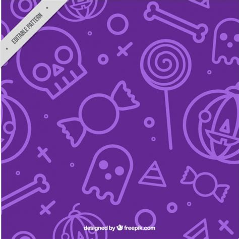 purple pattern background vector pattern with purple background and halloween elements