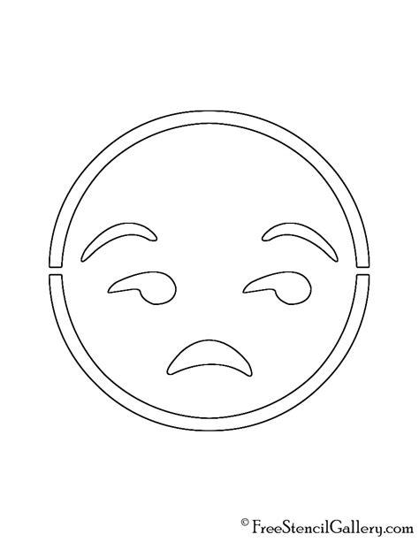 printable pumpkin stencils emoji emoji meh stencil free stencil gallery