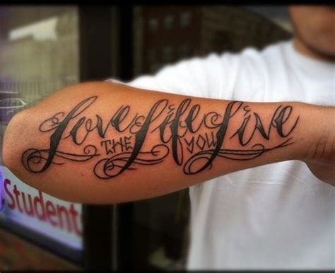 love the life you live tattoo the you live