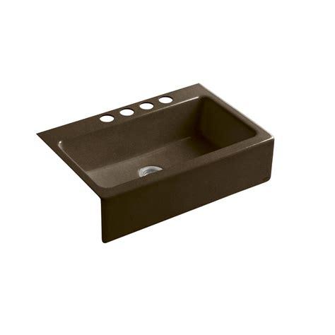 cast iron kitchen sinks undermount shop kohler dickinson undermount enameled cast iron