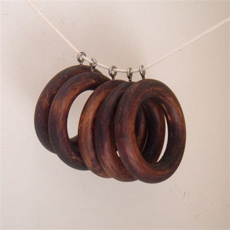 wood curtain rings reserved for jessica vintage wood curtain rings