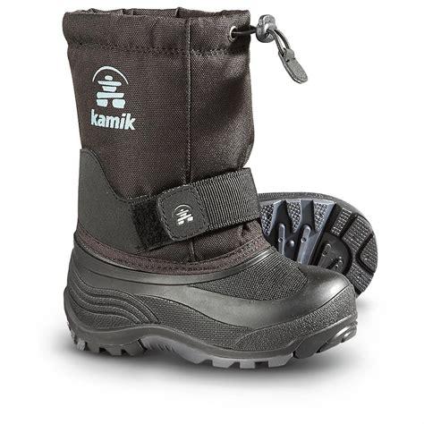 kamik toddler snow boots kamik rocket pac boots black 299521 winter