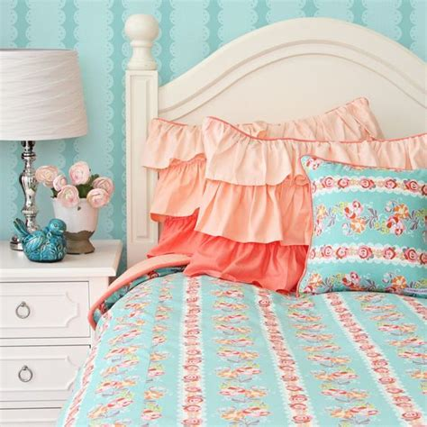 peach and turquoise bedroom coral teal bedding google search raelyn s room pinterest ruffles ruffle