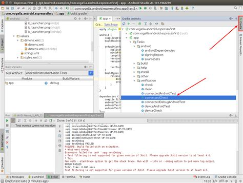 android studio unit test tutorial android user interface testing with espresso tutorial