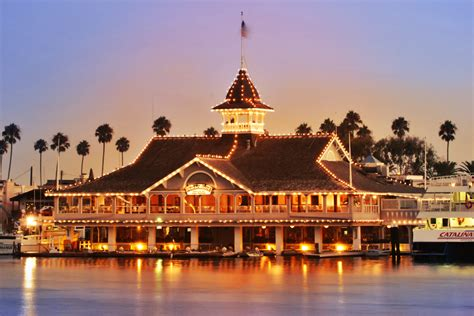 Balboa Pavilion From The Mainlandvendors Harborside