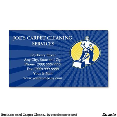 carpet cleaning business card templates 77 best business card templates images on
