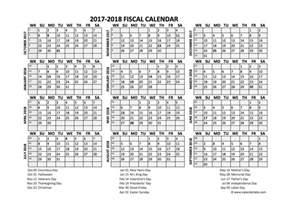 Fiscal Calendar Template by Fiscal Calendar 2017 18 Templates Free Printable Templates
