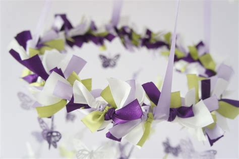Lavender And Green Baby Shower by Butterfly Mobile In Purple Lavender Green White