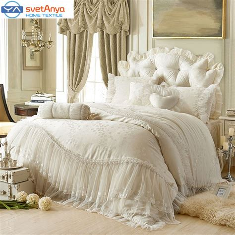 Princess Lace Cotton Luxury Bedding Sets Queen King Size Cheap Luxury Bedding Sets