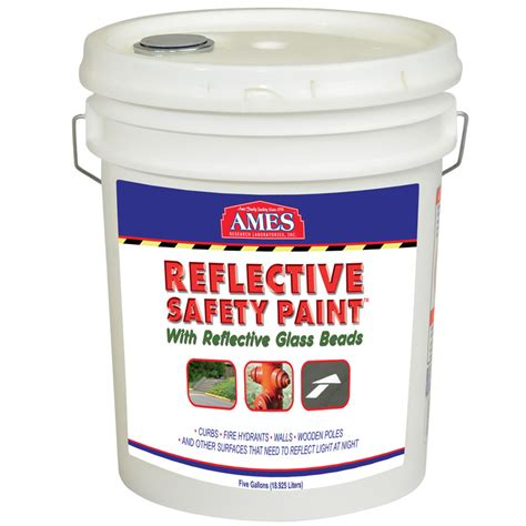 ames reflective safety paint for outdoor projects waterproof and adheres to concrete metal