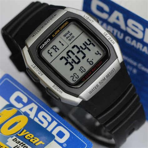 Jam Tangan Casio Original W 96h 1a jam tangan casio digital w 96h tali karet original