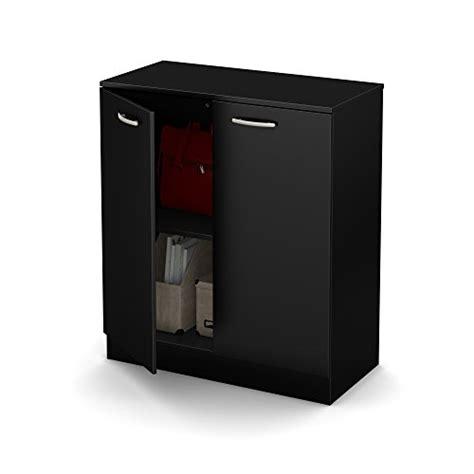 South Shore Axess 2 Door Storage Cabinet Pure Black 2016 2 Door Storage Cabinet Black