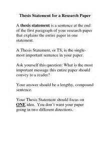 Thesis Example For A Research Paper Thesis Paper Examples Images