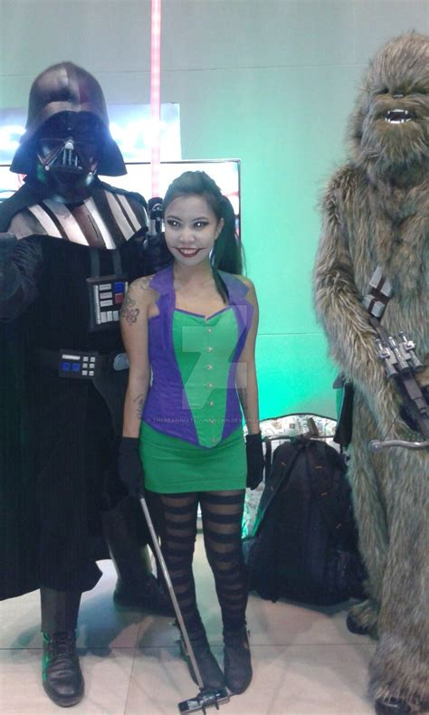 darth vader joker and chewbacca by