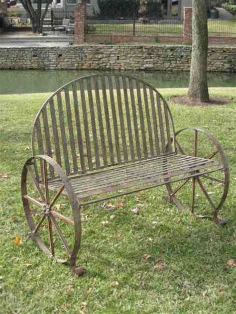 metal wagon wheel bench 25 best ideas about wagon wheels on pinterest wagon