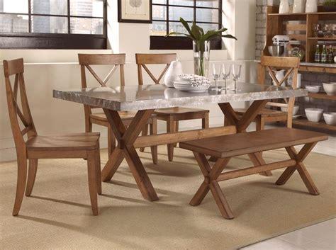 keaton honey finish trestle casual dining furniture set