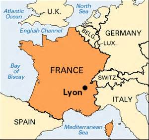 Lyon France Map by Map Of France Lyon 187 Travel