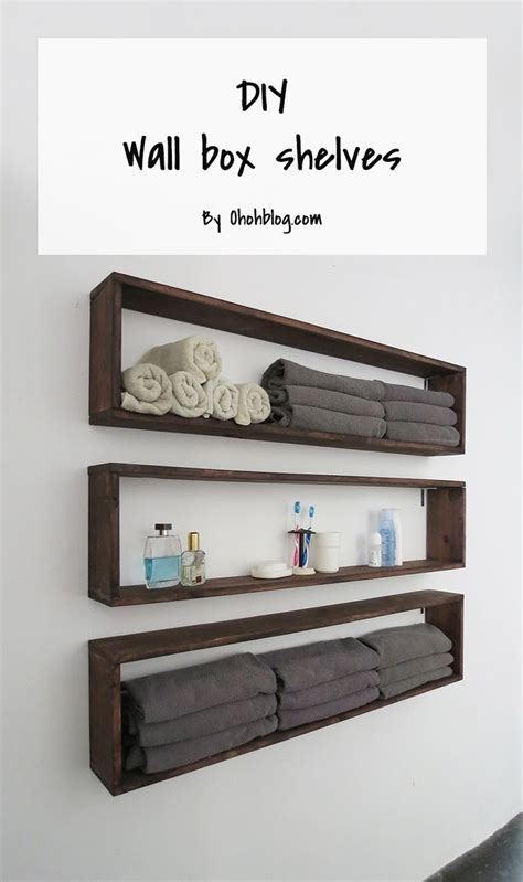 easy diy shelves box shelves diy wall and shelves