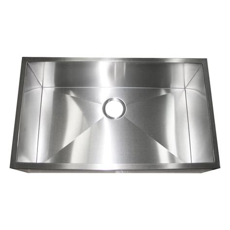 32 inch stainless steel sink 32 inch stainless steel flat front farm apron single bowl