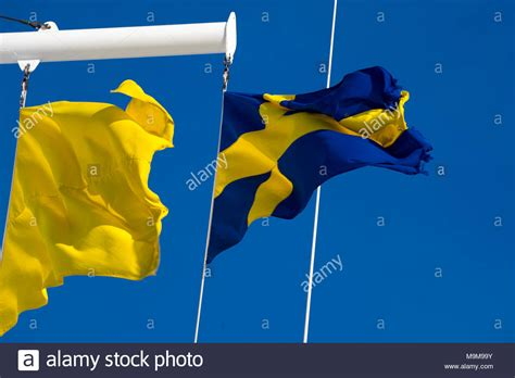 boat flying yellow flag ship pennants stock photos ship pennants stock images
