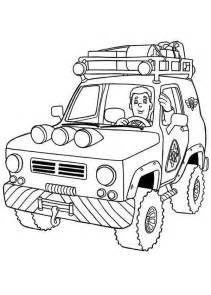 fireman sam ride patrol vehicle coloring page coloring sky