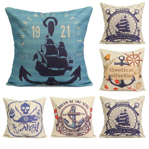 nautical sofa covers nautical series mediterranean style throw pillow case