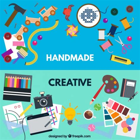 Handmade And - handmade and creative workshops vector free