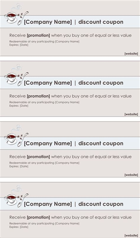 coupon template download free premium templates forms